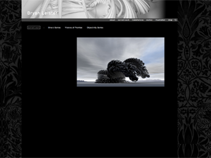 A black design that looks great with a background image and custom header image.